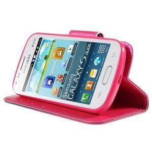 Peněženkové pouzdro pro Samsung Galaxy S Duos / Trend Plus - srdce - 4