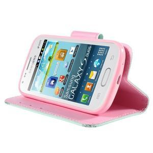 Peněženkové pouzdro pro Samsung Galaxy S Duos / Trend Plus - ptáček v kleci - 4