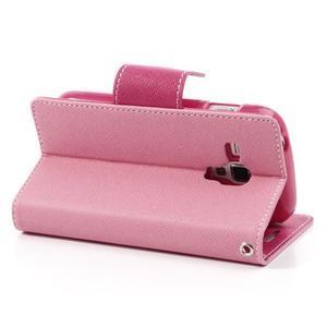 Diary pouzdro na mobil Samsung Galaxy S Duos/Trend Plus - růžové - 4