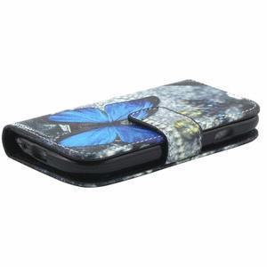 Peněženkové pouzdro na Samsung Galaxy S3 mini - modrý motýl - 4