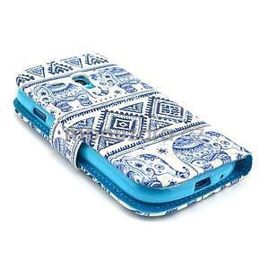 Peněženkové pouzdro na Samsung Galaxy S3 mini - sloni - 4