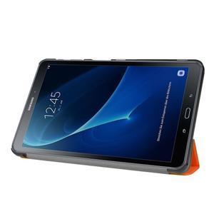 Trifold polohovatelné pouzdro na Samsung Galaxy Tab A 10.1 (2016) - oranžové - 4