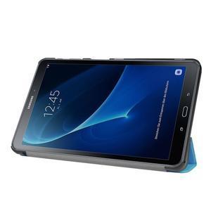 Trifold polohovatelné pouzdro na Samsung Galaxy Tab A 10.1 (2016) - světlemodré - 4
