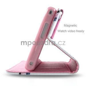 Peněženkové pouzdro na mobil Sony Xperia M2 - květy - 4