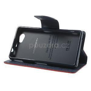 Fancy peněženkové pouzdro na Sony Xperia Z1 Compact - červené - 4