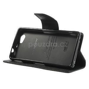 Fancy peněženkové pouzdro na Sony Xperia Z1 Compact - černé - 4