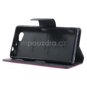 Fancy peněženkové pouzdro na Sony Xperia Z1 Compact - rose - 4