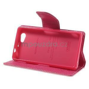 Fancy peněženkové pouzdro na Sony Xperia Z1 Compact - růžové - 4