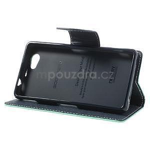 Fancy peněženkové pouzdro na Sony Xperia Z1 Compact - azurové - 4