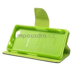 Fancy peněženkové pouzdro na Sony Xperia Z1 Compact - tmavěmodré - 4