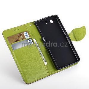 Leaf peněženkové pouzdro na Sony Xperia Z3 Compact - hnědé - 4