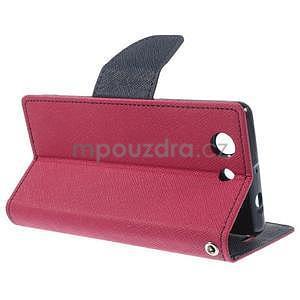 Diary peněženkové pouzdro na mobil Sony Xperia Z3 Compact - rose - 4