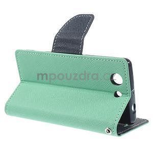 Diary peněženkové pouzdro na mobil Sony Xperia Z3 Compact - azurové - 4