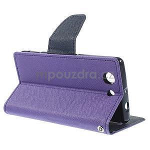 Diary peněženkové pouzdro na mobil Sony Xperia Z3 Compact - fialové - 4