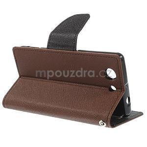 Diary peněženkové pouzdro na mobil Sony Xperia Z3 Compact - hnědé - 4