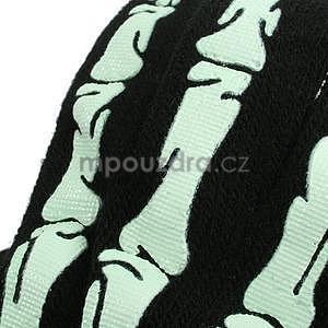 Skeleton rukavice na dotykové telefony - černé/bílé - 4