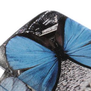 Flipové pouzdro na Samsung Galaxy S4 mini i9190- modrý motýl - 4