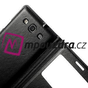 Luxusní pěněženkové pouzdro na Samsung Galaxy S3 i9300 - černé - 4
