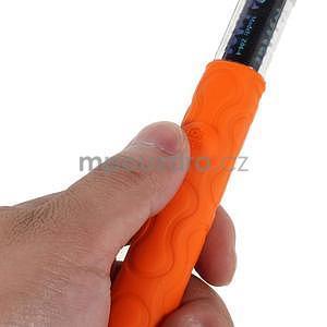 Selfie tyč s automatickým spínačem na rukojeti - oranžová - 4