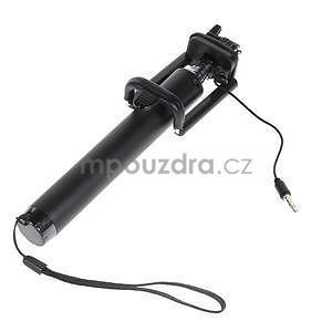 GX automatická selfie tyč se spínačem - černá - 4