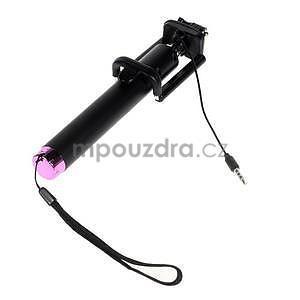 GX automatická selfie tyč se spínačem - růžová - 4