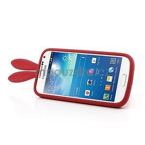 Silikonový obal na Samsung Galaxy S4 mini - červený králík - 4