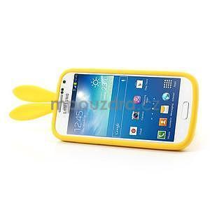 Silikonový obal na Samsung Galaxy S4 mini - žlutý králík - 4