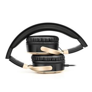 Pic9 náhlavní sluchátka s handsfree jack 3.5 mm - zlatá - 4