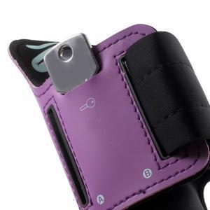Fittsport pouzdro na ruku pro mobil do rozměrů 143.4 x 70,5 x 6,8 mm - fialové - 4