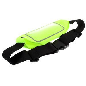 Sportovní kapsička přes pas na mobily do rozměrů 149 x 75 mm - zelené - 4