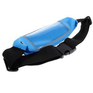 Sportovní kapsička přes pas na mobily do rozměrů 149 x 75 mm - modré - 4
