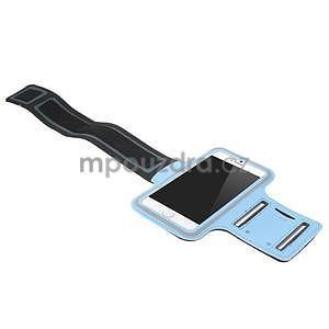 Gymfit sportovní pouzdro pro telefon do 125 x 60 mm - světle modré - 4