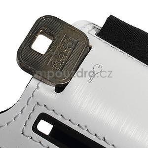 Soft pouzdro na mobil vhodné pro telefony do 160 x 85 mm - bílé - 4