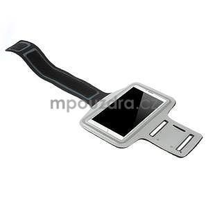 Běžecké pouzdro na ruku pro mobil do velikosti 152 x 80 mm - šedé - 4