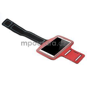 Běžecké pouzdro na ruku pro mobil do velikosti 152 x 80 mm - červené - 4