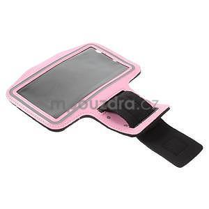 Běžecké pouzdro na ruku pro mobil do velikosti 152 x 80 mm - růžové - 4