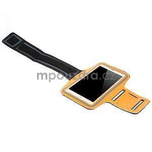 Běžecké pouzdro na ruku pro mobil do velikosti 152 x 80 mm - oranžové - 4