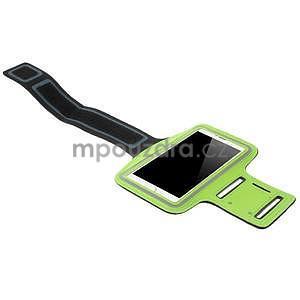 Běžecké pouzdro na ruku pro mobil do velikosti 152 x 80 mm - zelené - 4