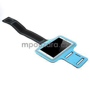 Běžecké pouzdro na ruku pro mobil do velikosti 152 x 80 mm - světlemodré - 4
