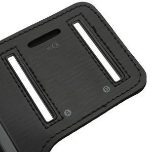 Černé pouzdro na ruku do velikosti mobilu 125 x 61 mm - 4