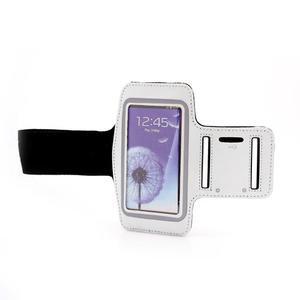 Sportovní pouzdro na ruku až do velikosti mobilu 140 x 70 mm - bílé - 4