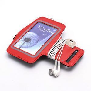 Sportovní pouzdro na ruku až do velikosti mobilu 140 x 70 mm - červené - 4
