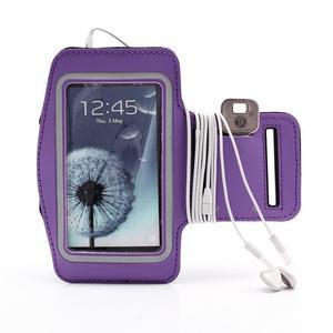 Sportovní pouzdro na ruku až do velikosti mobilu 140 x 70 mm - fialové - 4