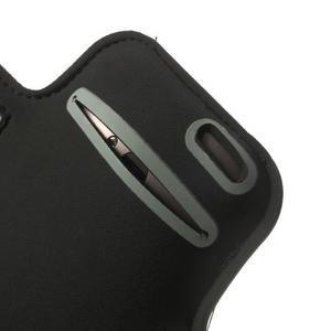 Černé Sports Gym pouzdo na ruku pro velikost mobilu až 150 x 70 mm - 4