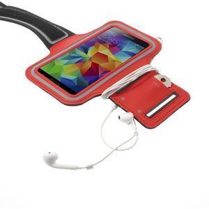 Fitsport pouzdro na ruku pro mobil do velikosti až 145 x 73 mm - červené - 4