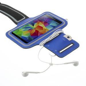 Fitsport pouzdro na ruku pro mobil do velikosti až 145 x 73 mm - tmavěmodré - 4