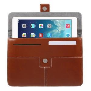 Business univerzální pouzdro na tablet do rozměru 226 x 149 mm - hnědé - 4