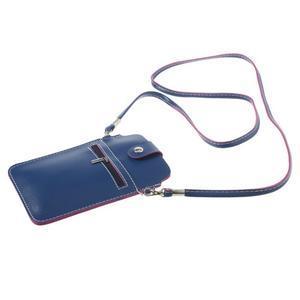 Univerzální pouzdro/kapsička na mobil do rozměru 180 x 110 mm - modré - 4