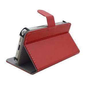 Univerzální peněženkové pouzdro do 159 x 79 mm - červené - 4