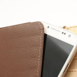 Softy univerzální pouzdro na mobil do 137 × 71 × 8,6 mm - hnědé - 4